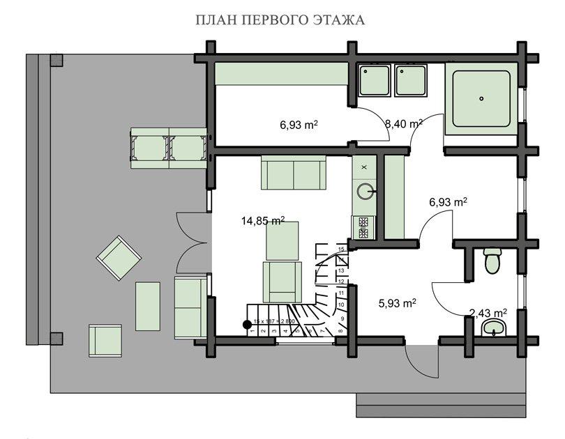 Гостевой дом с баней